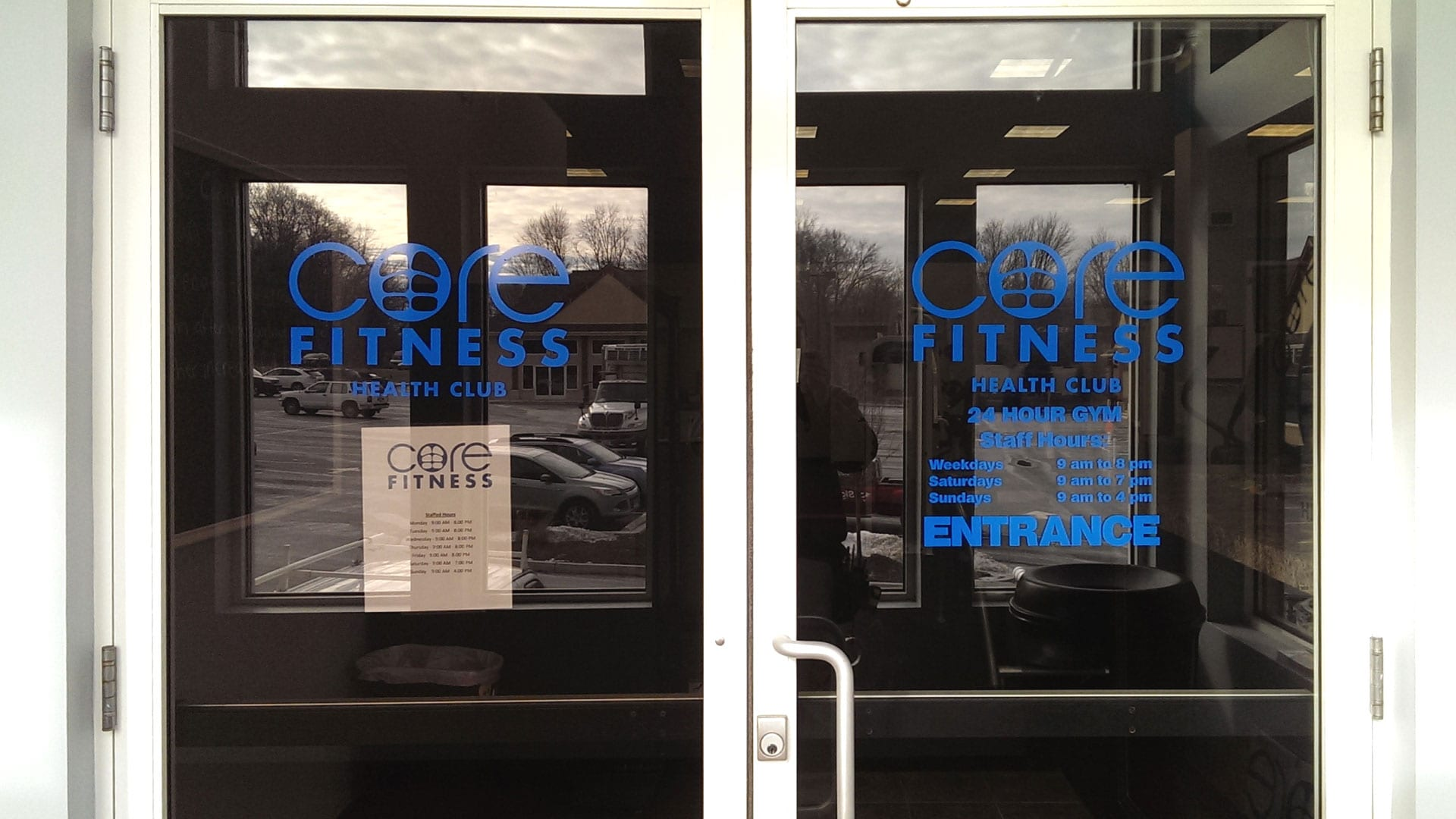 Core Fitness door sign