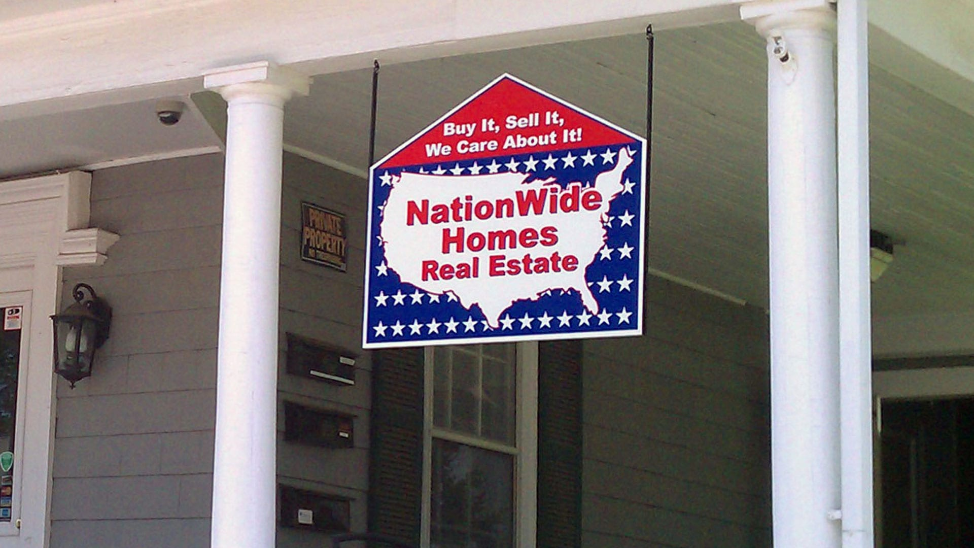 NationWide Homes hanging sign