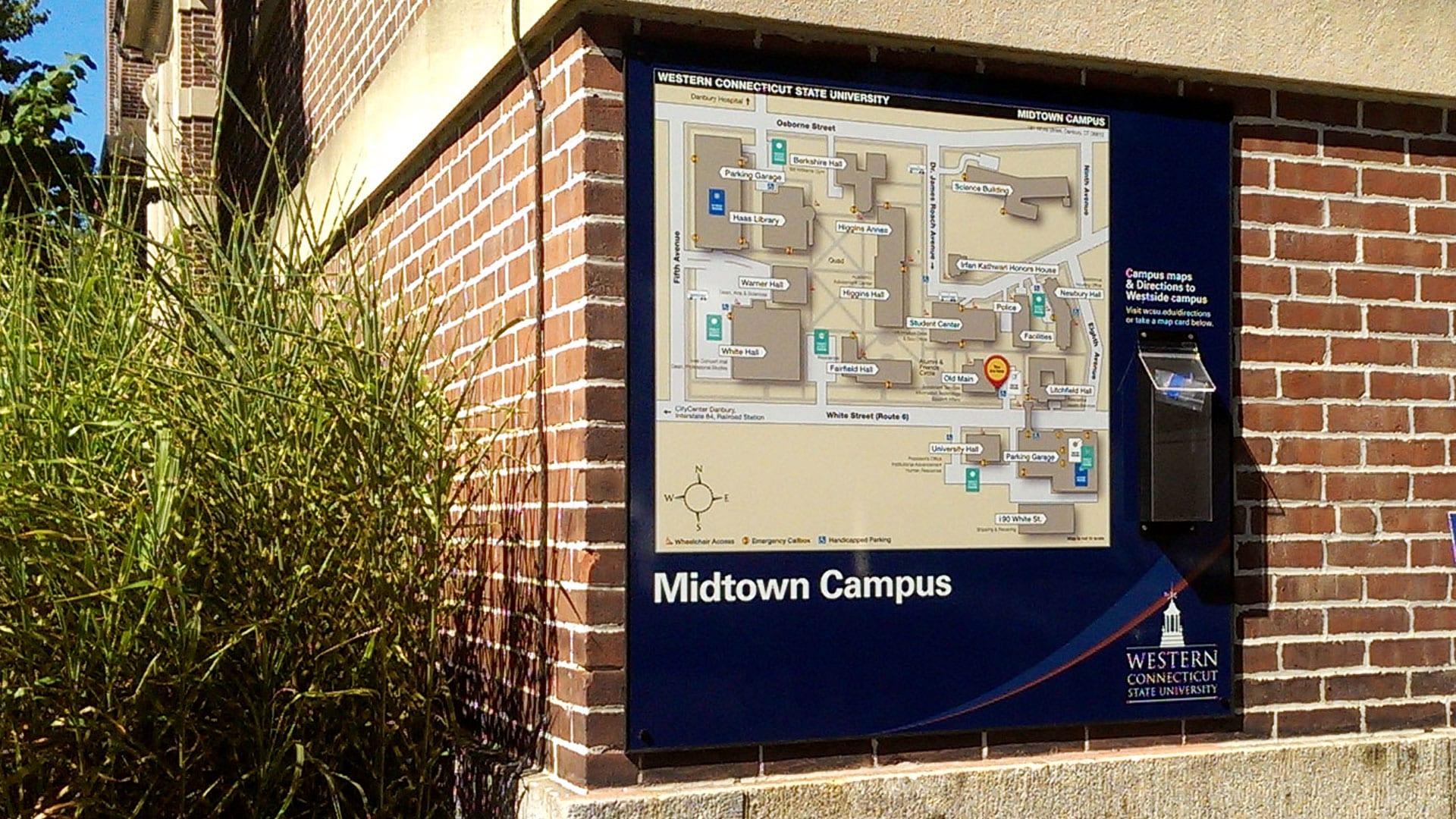 Wcsu Westside Campus Map.Monument Dir Wcsu Signarama Danbury