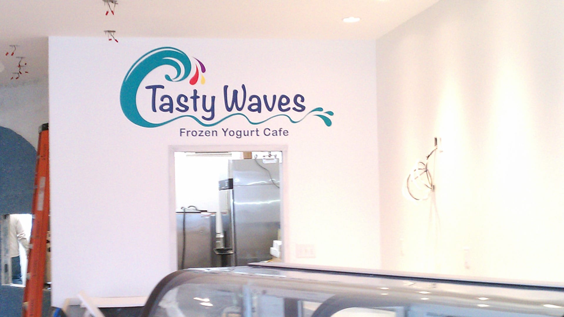 Tasty Waves - Vinyl Lettering - Interior wall sign