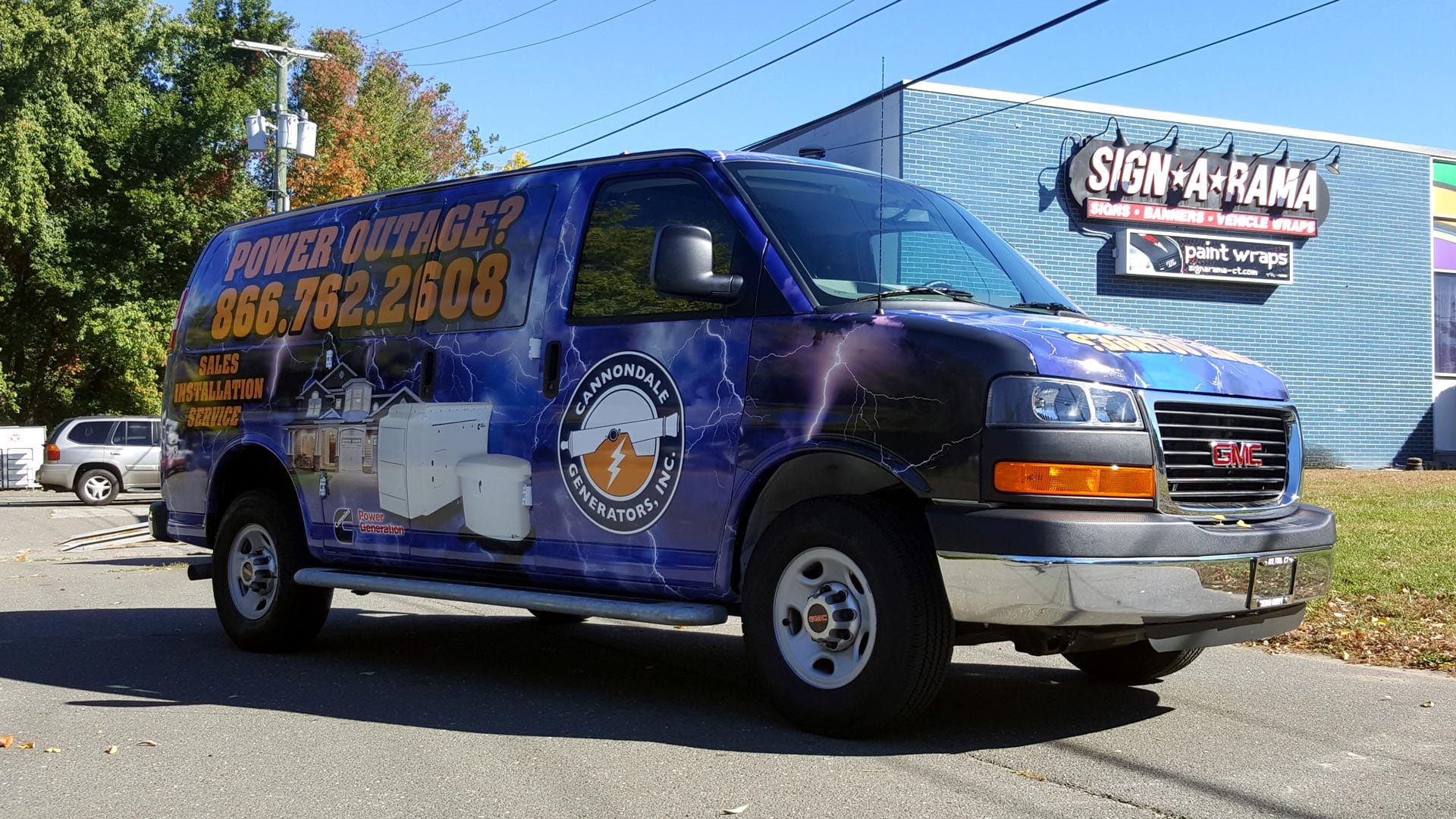 Full car wrap on a company van