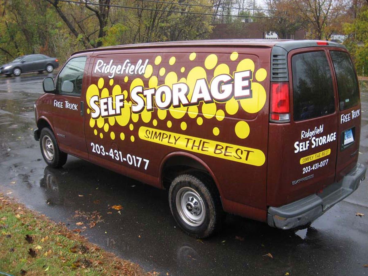 Van Wrap & Vinyl Lettering - Ridgefield Self Storage