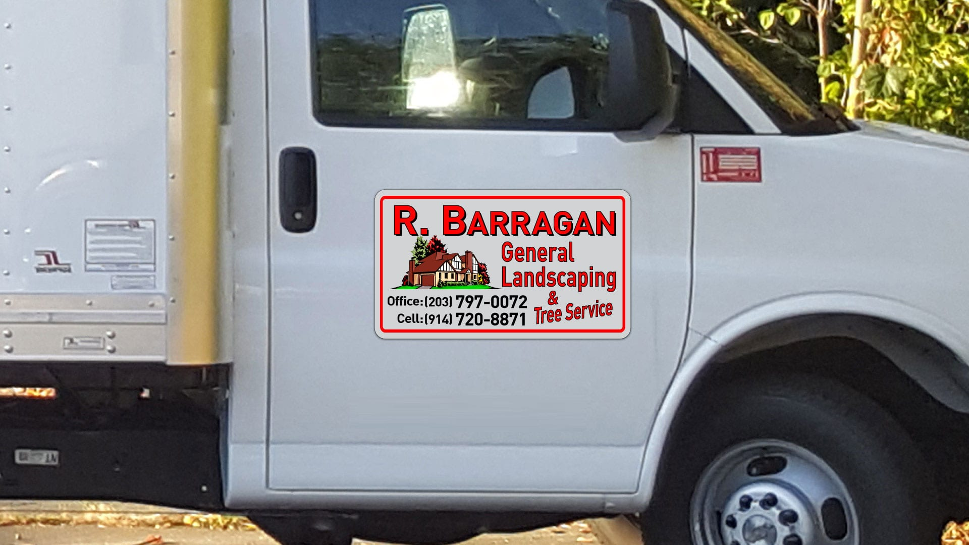 Custom car magnet for R. Barragan