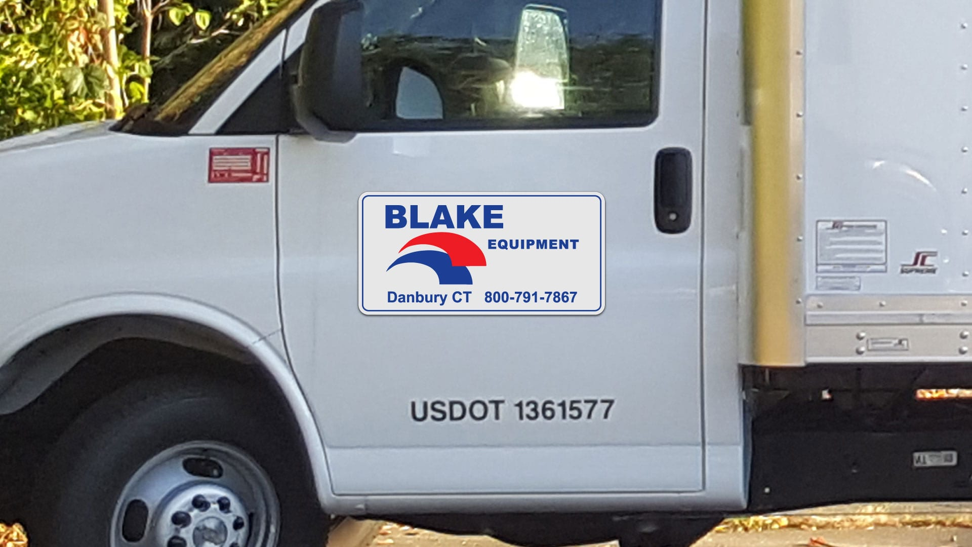 Custom car magnet for Blake Equipment