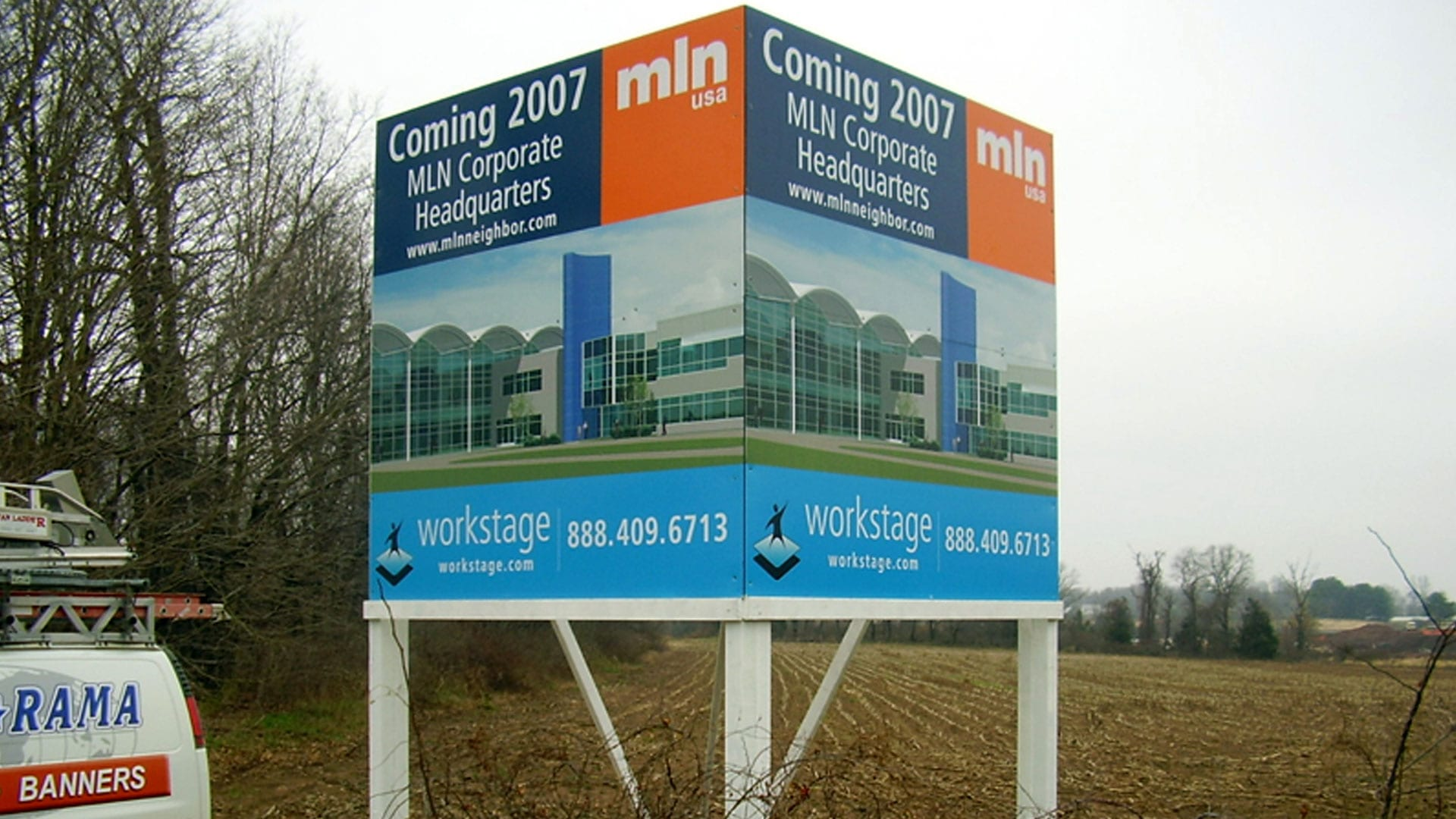 Cubic site sign