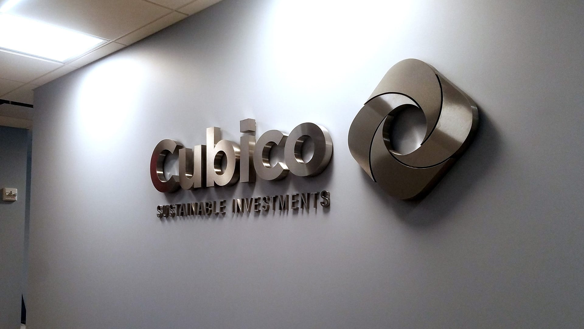 Interior Stainless Wall Letters for Cubico