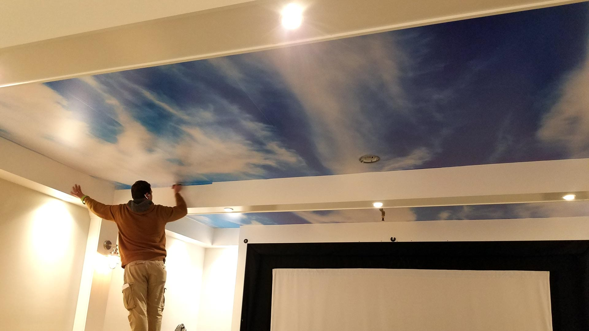 cloud ceiling wrap