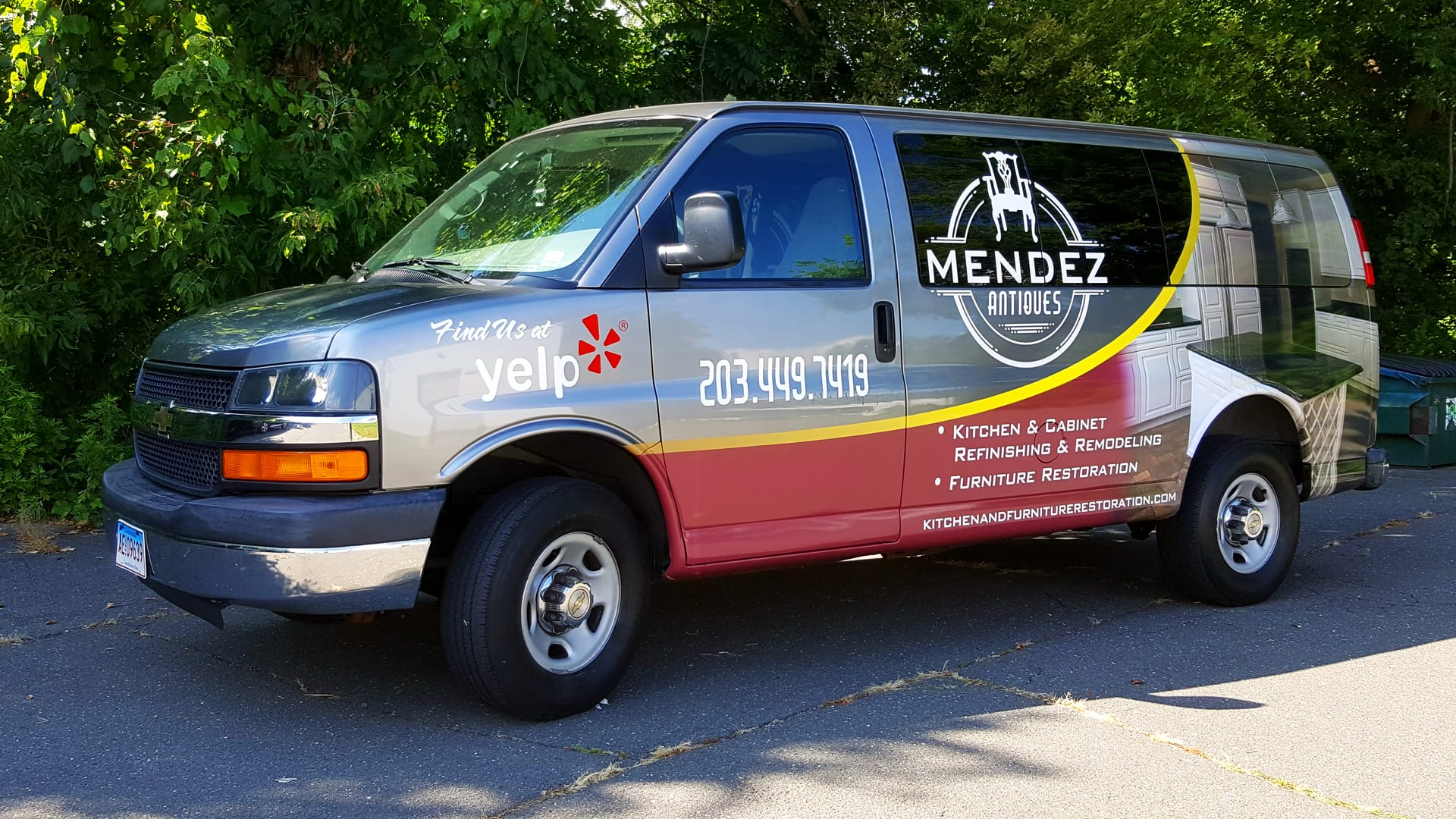 Mendez antiques - Full Van wrap - Vehicle wrap