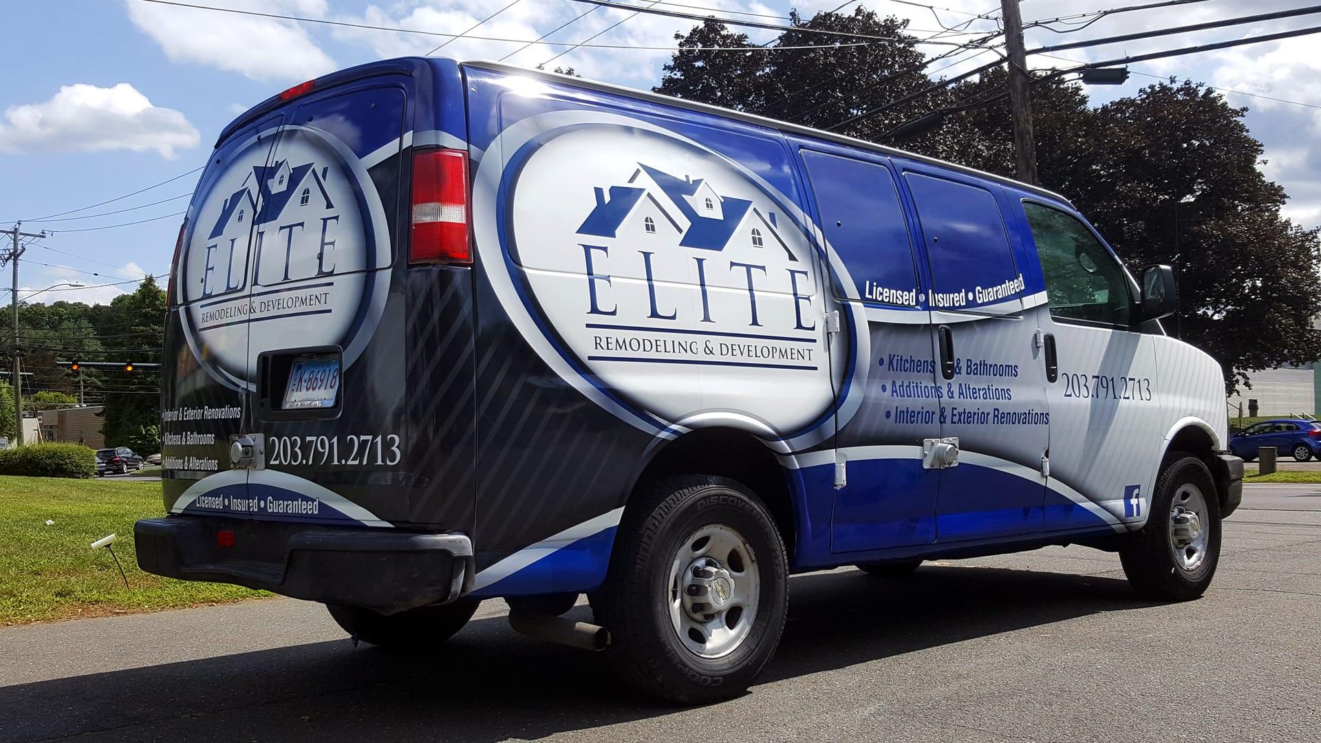 Van Wrap for Elite Remodeling & Development