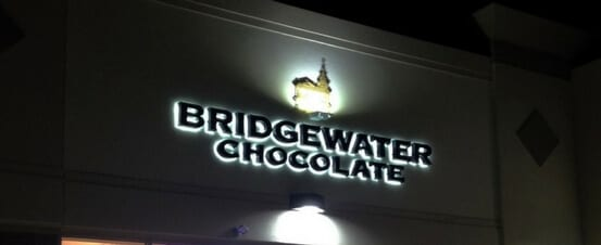 Bridgewater Chocolate - Back Lighting Dimensional sign Bridgewater Chocolate